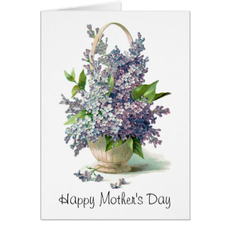 Mother's Day: Lovely Purple Lilac Basket Cards