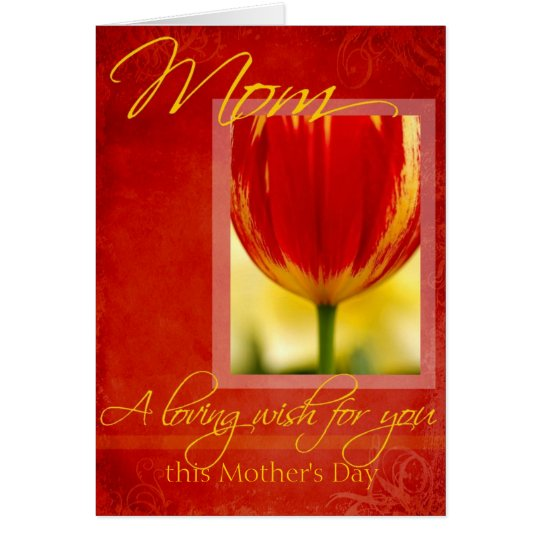Mother's Day Loving Wish for You Tulip Design Card