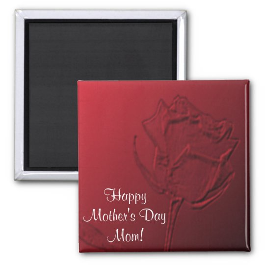 Mother's Day Magnet - Red Rose