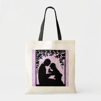 Mothers Day Mom and Child Silhouette Tote Bag