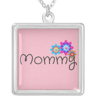 Mother's Day Mommy Necklace with Flowers