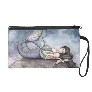 Mother's Day Mother and Baby Mermaid Art Wristlets