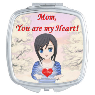 Mother's Day - Mum, You are my Heart (Customizable Travel Mirrors