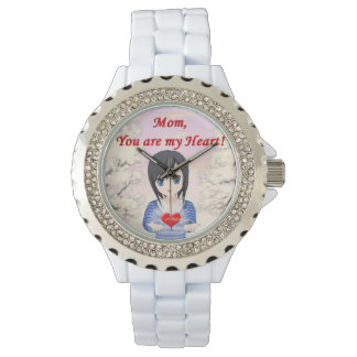 Mother's Day - Mum, You are my Heart (Customizable Wrist Watch