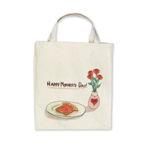 Mother's Day Organic Grocery Bag