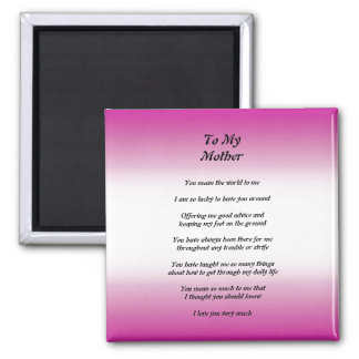 Mother's Day Peom Magnet