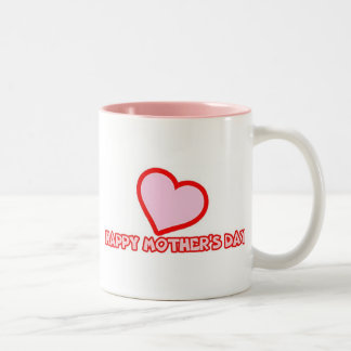 Mother's Day Pink Heart Coffee Mugs