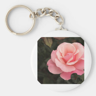 Mother's Day Pink Rose Basic Round Button Key Ring