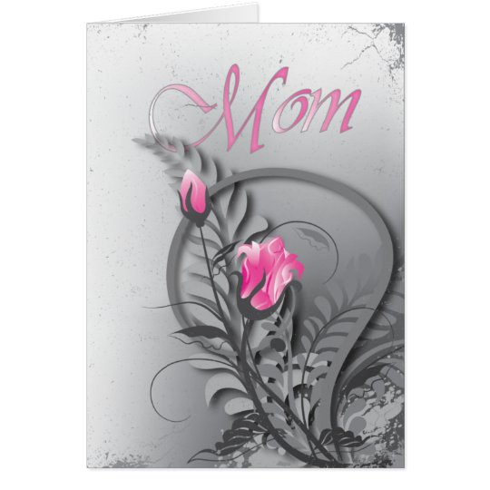 Mother's Day Pink Roses Card