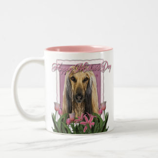 Mothers Day - Pink Tulips - Afghan Two-Tone Coffee Mug