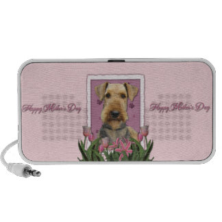Mothers Day - Pink Tulips - Airedale Notebook Speakers