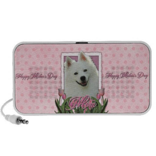 Mothers Day - Pink Tulips - American Eskimo Speaker System