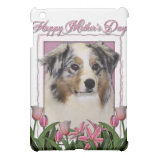 Mothers Day - Pink Tulips - Australia Shepherd Case For The iPad Mini