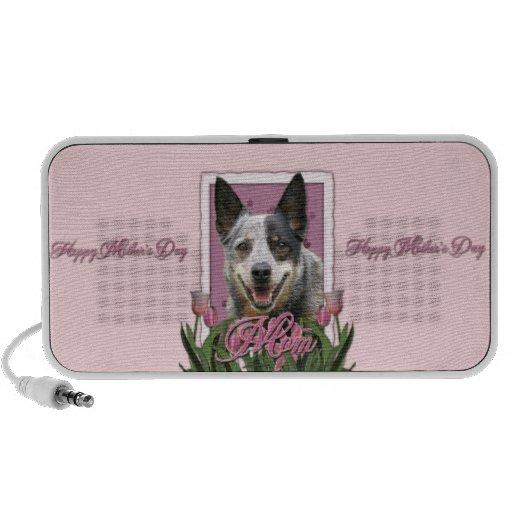 Mothers Day - Pink Tulips - Australian Cattle Dog Mp3 Speaker