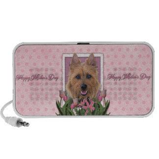 Mothers Day - Pink Tulips - Australian Terrier Travel Speaker