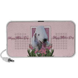 Mothers Day - Pink Tulips - Bedlington Terrier Speaker System