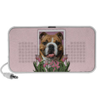 Mothers Day - Pink Tulips - Bulldog Mini Speakers