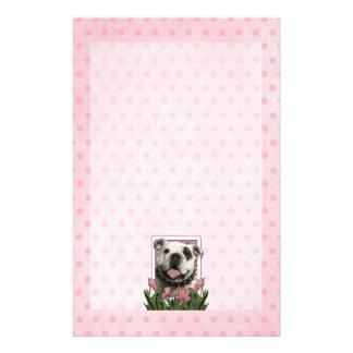 Mothers Day - Pink Tulips - Bulldog Custom Stationery