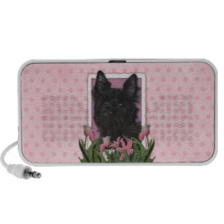 Mothers Day - Pink Tulips - Cairn Terrier - Rosco Notebook Speakers