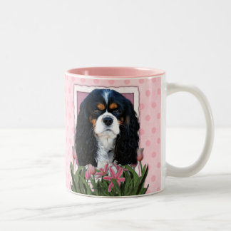 Mothers Day - Pink Tulips - Cavalier - Tri-Color Two-Tone Coffee Mug