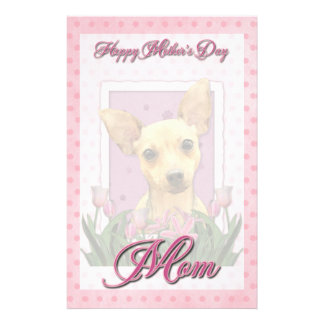 Mothers Day - Pink Tulips - Chihuahua Stationery