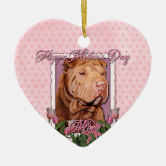 Mothers Day - Pink Tulips - Chinese Shar Pei Lucky Ornaments