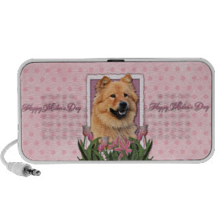 Mothers Day - Pink Tulips - Chow Chow - Cinny Speaker System