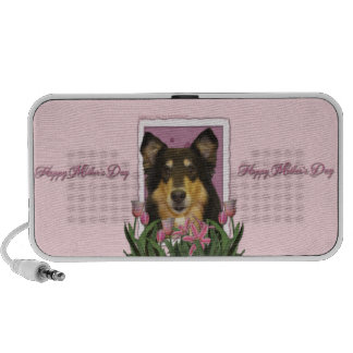 Mothers Day - Pink Tulips - Collie - Caroline iPod Speaker