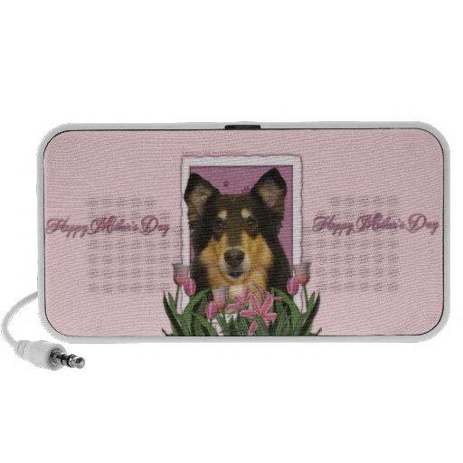 Mothers Day - Pink Tulips - Collie - Caroline iPod Speaker