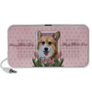 Mothers Day - Pink Tulips - Corgi - Owen PC Speakers