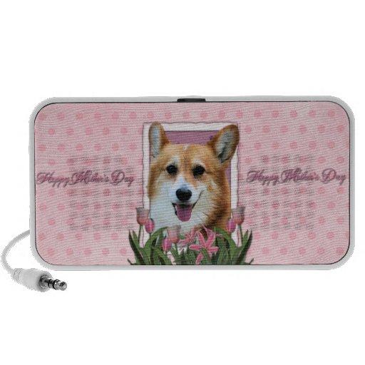 Mothers Day - Pink Tulips - Corgi - Owen PC Speakers