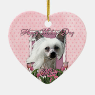 Mothers Day - Pink Tulips - Crestie - Kahlo Ornament