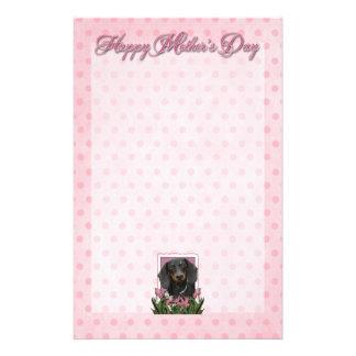 Mothers Day - Pink Tulips - Dachshund - Winston Stationery