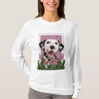 Mothers Day - Pink Tulips - Dalmatian T-Shirt
