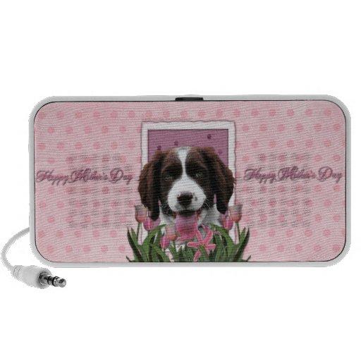 Mothers Day - Pink Tulips English Springer Spaniel Speaker