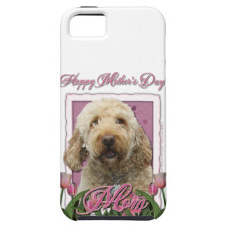 Mothers Day - Pink Tulips - GoldenDoodle iPhone 5 Cases