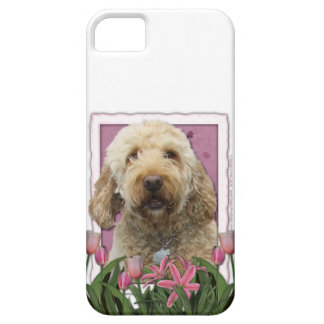 Mothers Day - Pink Tulips - GoldenDoodle iPhone 5 Covers