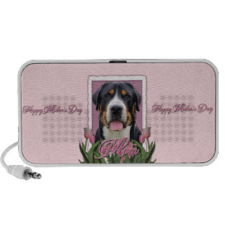 Mothers Day Pink Tulips Greater Swiss Mountain Dog iPod Speaker