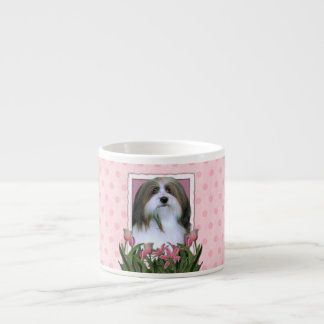 Mothers Day - Pink Tulips - Havanese Espresso Cup