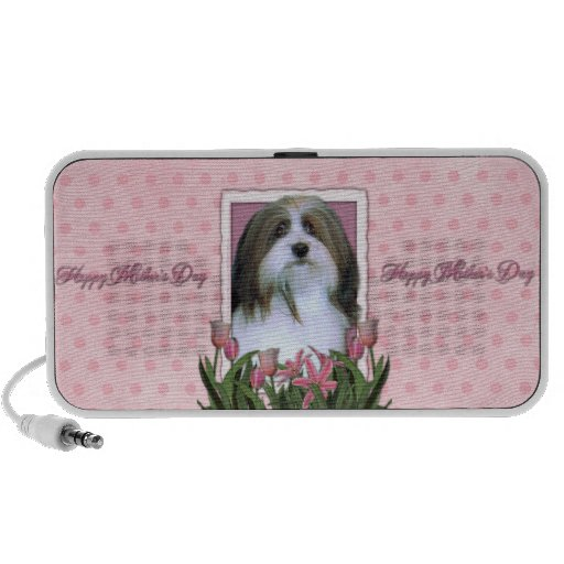 Mothers Day - Pink Tulips - Havanese Travel Speakers