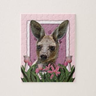 Mothers Day - Pink Tulips - Kangaroo Puzzle