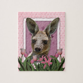 Mothers Day - Pink Tulips - Kangaroo Jigsaw Puzzle