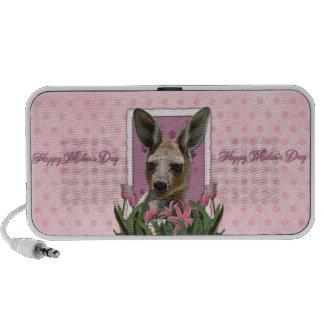 Mothers Day - Pink Tulips - Kangaroo Notebook Speaker