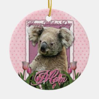 Mothers Day - Pink Tulips - Koala Christmas Tree Ornament