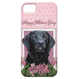 Mothers Day - Pink Tulips - Labrador - Black - Gag Barely There iPhone 5 Case