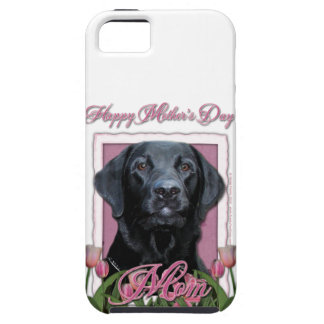 Mothers Day - Pink Tulips - Labrador - Black - Gag Case For The iPhone 5