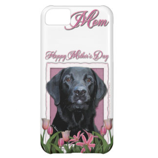 Mothers Day - Pink Tulips - Labrador - Black - Gag iPhone 5C Cover