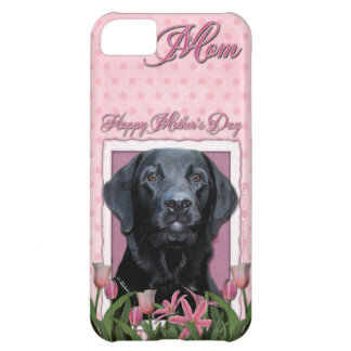 Mothers Day - Pink Tulips - Labrador - Black - Gag iPhone 5C Case