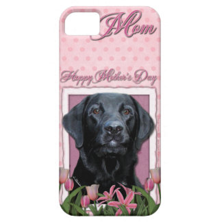 Mothers Day - Pink Tulips - Labrador - Black - Gag iPhone 5 Cover