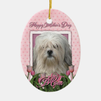 Mothers Day - Pink Tulips - Lowchen Ornament